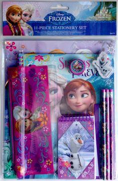 Disney Frozen Princess Elsa and Anna with Olaf 11-piece Stationery set #InnovativeDesigns