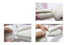 Cracker Girl Bunny Free Pattern- Part 2 ( Turkish and English Version) - Tiny Mini Design Crochet Toys Patterns, Amigurumi Patterns, Stuffed Toys Patterns, Amigurumi Doll, Knitting Patterns, Amigurumi Minta, Crochet Baby, Crochet Bikini, Lany