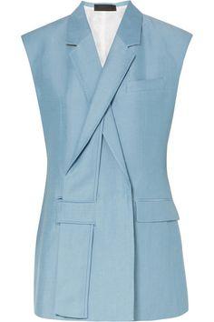 Haider Ackermann - Linen And Silk-blend Vest - Light blue