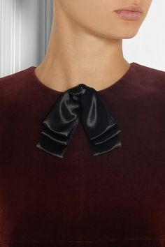 Saint Laurent | Satin neck bow | NET-A-PORTER.COM