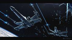 Star Wars: Fighter by ourlak. #StarWars #Art #gosstudio .★ We recommend Gift Shop: http://www.zazzle.com/vintagestylestudio ★