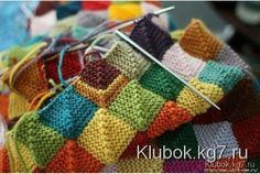 Free Knitting Pattern for Patchwork Baby Blanket Knitting Stitches, Knitting Yarn, Knitting Patterns, Crochet Patterns, Start Knitting, Baby Patterns, Free Knitting, Yarn Projects, Knitting Projects