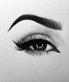 Drawings of eye makeup eyebrows sketch drawing eyebrows eye pencil drawing drawing hair eyebrow drawings . drawings of eye eyes drawing Pencil Art Drawings, Art Drawings Sketches, Cute Drawings, Sketch Drawing, Sketching, Scary Drawings, Sketch Of An Eye, Sketches Of Eyes, Eye Pencil Sketch