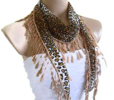 New collection! but Super limited! Very Special Fashion Lace Shawl with Trimming combines together! Very beautiful! It's unique design…. Handmade Accessories, Women Accessories, Fashion Accessories, Handmade Gifts For Her, Leopard Fashion, Turkish Fashion, Lace Scarf, Scarf Styles, Spring Fashion