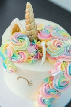 Cute #unicorn #cake #DIY