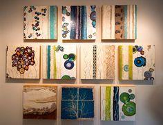 encaustic mixed media paintings by Laura Van Horne at Gray Sky Gallery in Seattle #art #encaustic #painting