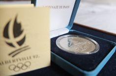 100 francs argent Série Jeux Olympiques Albertville 1992, 1989. Monnaie de Paris, Poids:22,20g, Ecrin d'origine avec certificat et numéro de série