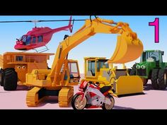 One HOUR of AApV Cartoons - Diggers, Trucks, Helicopters, Bulldozers, Cars for…