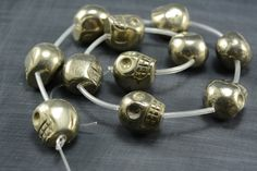 wholesale skull beads - pyrite beads wholesale - pyrite gemstone beads - skull beads and charms - skull beads -18-8mm -15inch