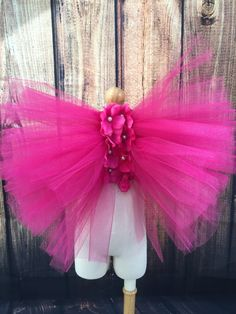 Hey, I found this really awesome Etsy listing at https://www.etsy.com/listing/256765573/fuschia-pink-girls-fairy-wings-pink