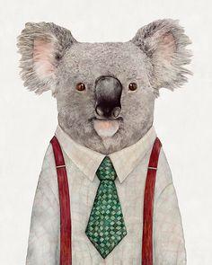 "animalcrew: "" Koala Painting. By Animal Crew """