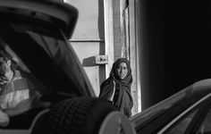 Lady going home after a hard day at work Baghdad 2011 #Photography #Iraq #Baghdad #black and white #Documentary #People
