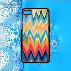 Art Chevron Pattern Blackberry Z10 Case Cover Blackberry Hard Case