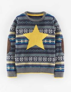 Festive Fair Isle Sweater 21823 Sweaters at Boden