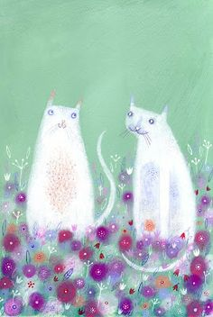 Sweet cats by Anna Wadham