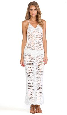 Indah Syra Crochet Maxi Dress in White | REVOLVE