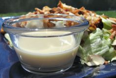 Oriental chicken salad dressing...substitute 3Tbls of sugar dissolved in a little water for honey. Yum!