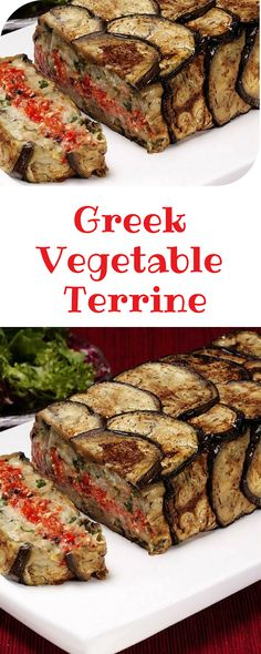 Fancy making a Greek Vegetable Terrine? Clean Recipes, Vegetable Recipes, Vegetarian Recipes, Cooking Recipes, Healthy Recipes, Veggie Food, Veggie Dishes, Delicious Recipes, Tapenade