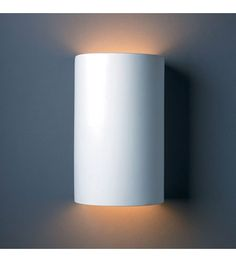 Justice Design Group Ambiance Large Cylinder Outdoor Wall Sconce in Bisque CER-1265W-BIS #lightingnewyork #lny #lighting