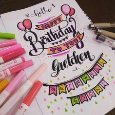 """Let it Rock"" Black Floral Kimono Set Happy Birthday Drawings, Birthday Doodle, Birthday Card Drawing, Diy Birthday, Birthday Design, Creative Birthday Cards, Handmade Birthday Cards, Happy Birthday Cards, Bullet Journal School"