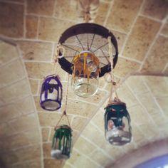 Che lampadari originali alla Masseria Montenapoleone