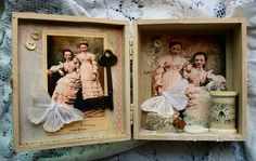 sisters by Nancy Maxwell James....wooden cigar box