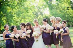 plum bridesmaid dresses   Kristyn Hogan