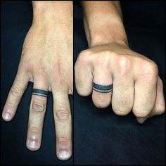 Tattoo Couple Marriage Wedding Bands - Tattoo Couple Marriage Wedding Bands Best Picture For girl tattoo For Your Taste You are look - Men Finger Tattoos, Couples Ring Tattoos, Hand Tattoos, Couple Tattoos, Tatoos, Wedding Ring Tattoo For Men, Wedding Tattoos, Wedding Rings, Little Tattoos