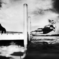 The morning I heard a mermaid's song by Karrah Kobus via photographyweek.tumblr.com #photography #blackandwhite #water