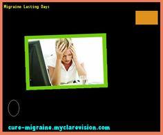 Migraine Lasting Days 102538 - Cure Migraine