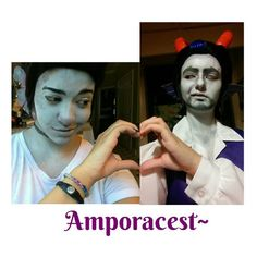 @levi.me.alone  Sorry! I couldn't help myself! I'm a sucker for Amporacest. Ah the signature Ampora smirk. (Also unpainted hands ftw)  #homestuck #homestuckcosplay #cosplaystuck #cosplay #cronusampora #cronuscosplay #orphanerdualscar #dualscar #dualscarcosplay #orphanerdualscarcosplay #cosplaymakeup #amporacest #completedtheheart