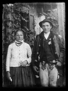 Góral i góralka z Piekielnika Folk Costume, Costumes, Poland, Lithuania, My Heritage, Folklore, Culture, Couples, Instagram
