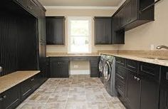 In-town Atlanta Tear-down/Rebuild - traditional - Laundry Room - Atlanta - Georgia Contractor Group Laundry Craft Rooms, Laundry Room Design, Brown Cabinets, Kitchen Cabinets, Mudroom, My Dream Home, Future House, Traditional, Interior
