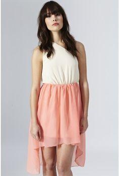 2 in 1 Dip Hem One Shoulder Dress - Party Dresses - Clothing