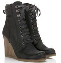 Image detail for -Kate Kuba Wendy Wedge Lace Up Ankle Boots