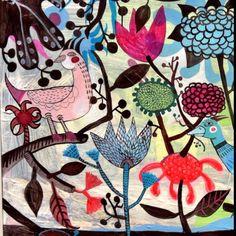 #folk #flowers by Mercedes Lagunas