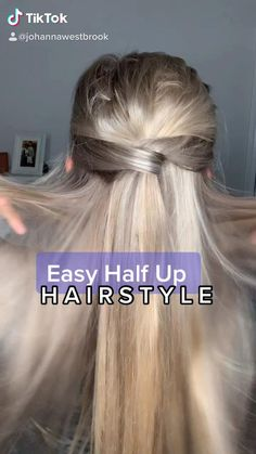 Easy Hairstyles For Long Hair, Pretty Hairstyles, Running Late Hairstyles, Medium Hair Styles, Curly Hair Styles, Brown Blonde Hair, Medium Blonde, Up Girl, Great Hair