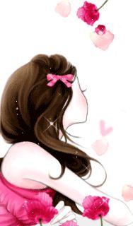 Gifs/Enfeites: Bboguri, Cute e Enakei Cute Cartoon Girl, Cartoon Pics, Cartoon Picture, Lovely Girl Image, Girls Image, Gifs, Anime Korea, Korean Anime, Glitter Girl