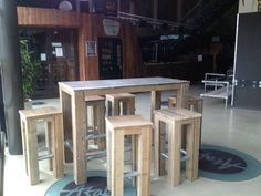 Steigerhout Furniture - Steigerhout Bartafel Kari. Exclusieve bartafels van steigerhout op maat gemaakt. - Steigerhout Furniture | Unieke steigerhouten meubelen & tuinmeubelen op maat gemaakt!
