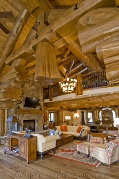 View our picture gallery of log home living room & loft designs. These areas are the focal points of any log home, used for living, laughing & entertaining