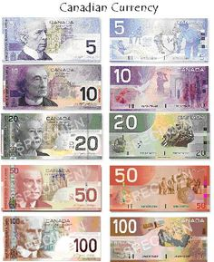The rest of the world things it's monopoly money but Canadian Currency really has a lot of character (and colour! Canadian Things, I Am Canadian, Canadian History, Canada Eh, Toronto Canada, All About Canada, World Thinking Day, Coin Collecting, World History