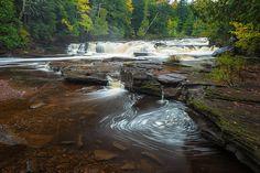 Waterfall Photography Porcupine Mountains Michigan Fine Art