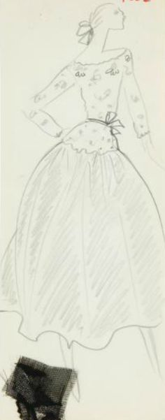 Circa 1977 -  Yves Saint Laurent sketch