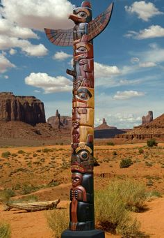 1. Wood Carving ~ Fairtrade Hand carved Wooden Totem Pole