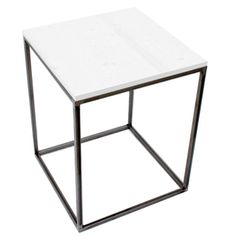 Mesa de Noche Industrial 45 x 45 x 55 centímetros Blanca Ref.1097