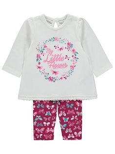 My Little Flower 2 Piece Set, read reviews and buy online at George at ASDA. Shop from our latest range in Baby. Dressing your little flower for the day is s...