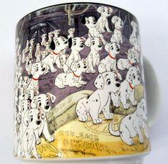 Vtg Disney 101 Dalmatians Ceramic Coffee Mug Puppy Dogs Black Inside Japan