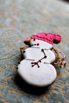 Backen - Advent/Weihnachten/Winter Schneemann - snowman cookies
