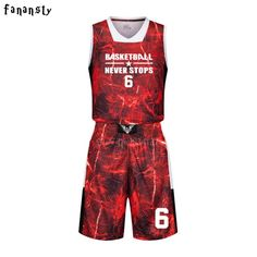 High Quality Basketball Jerseys Boys Breathable Custom Basketball Uniforms  Cheap College Basketball Suits DIY Set 2017 94fd46e7c