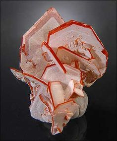 Wulfenite with Cerussite coating / Uygur China